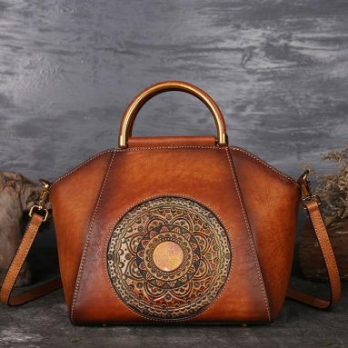Ladies Totem Leather Handbag