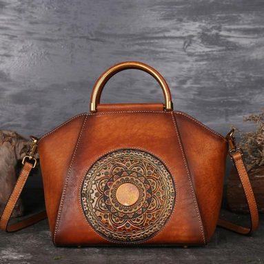 Ladies Totem Leather Handbag